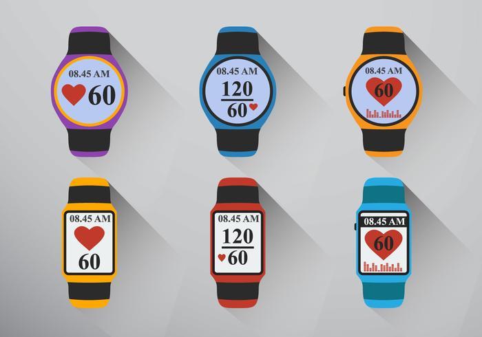 Smart Watch Herzfrequenz vektor