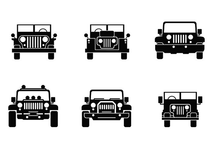 Freier Jeep-Vektor vektor