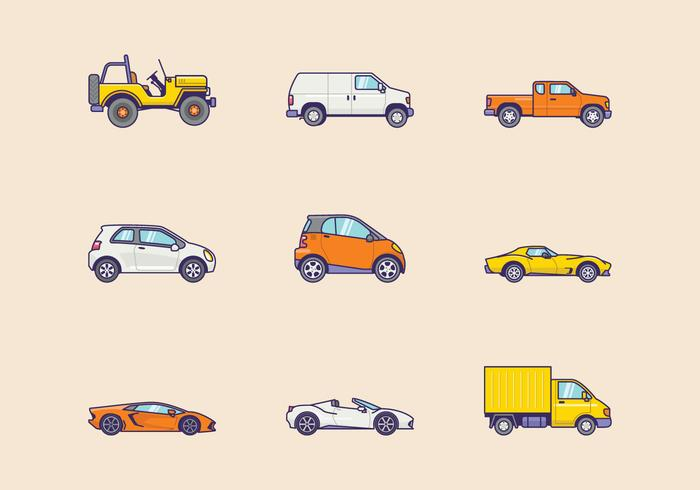 Kostenlose Fahrzeuge Icons vektor