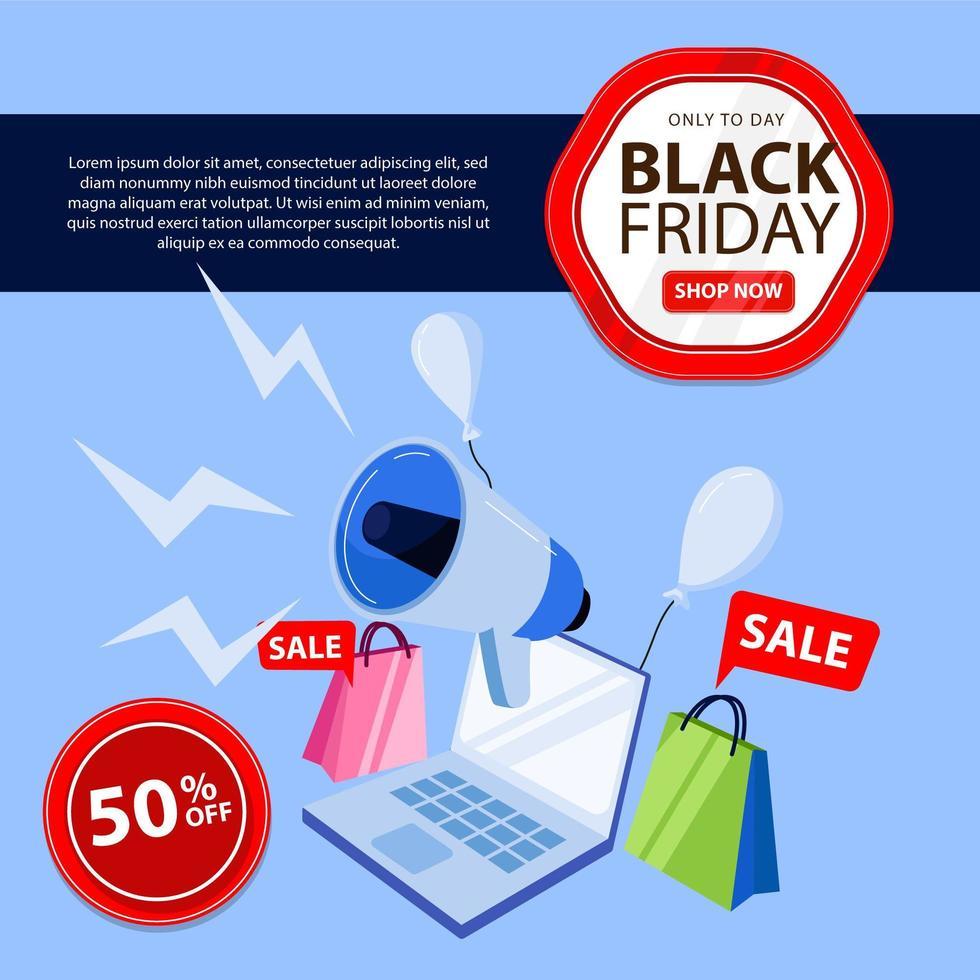 schwarzer Freitag Banner perfekt für Online-Shop-Geschäft vektor