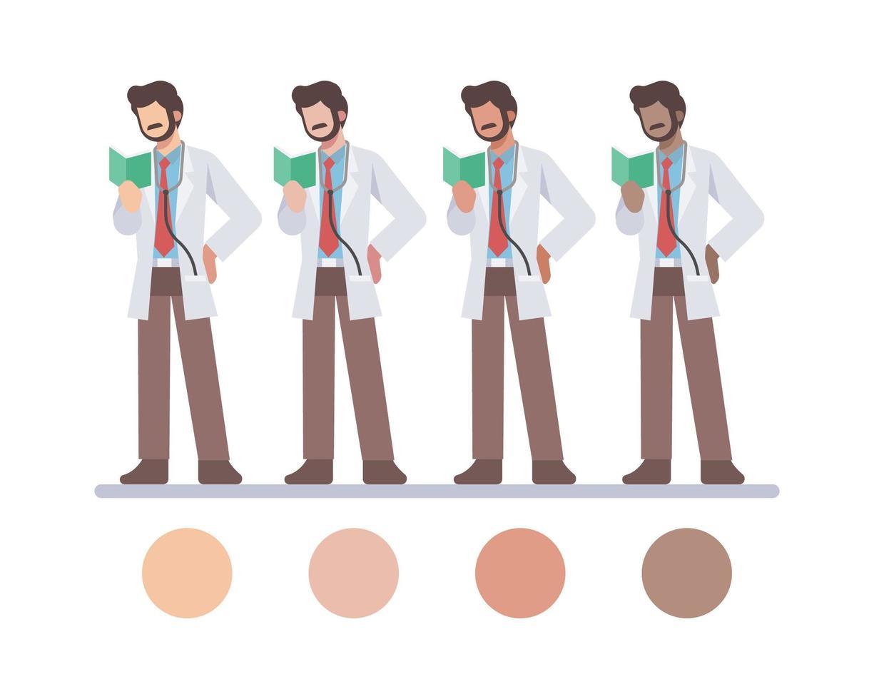 männliche Arztcharaktere lesen vektor