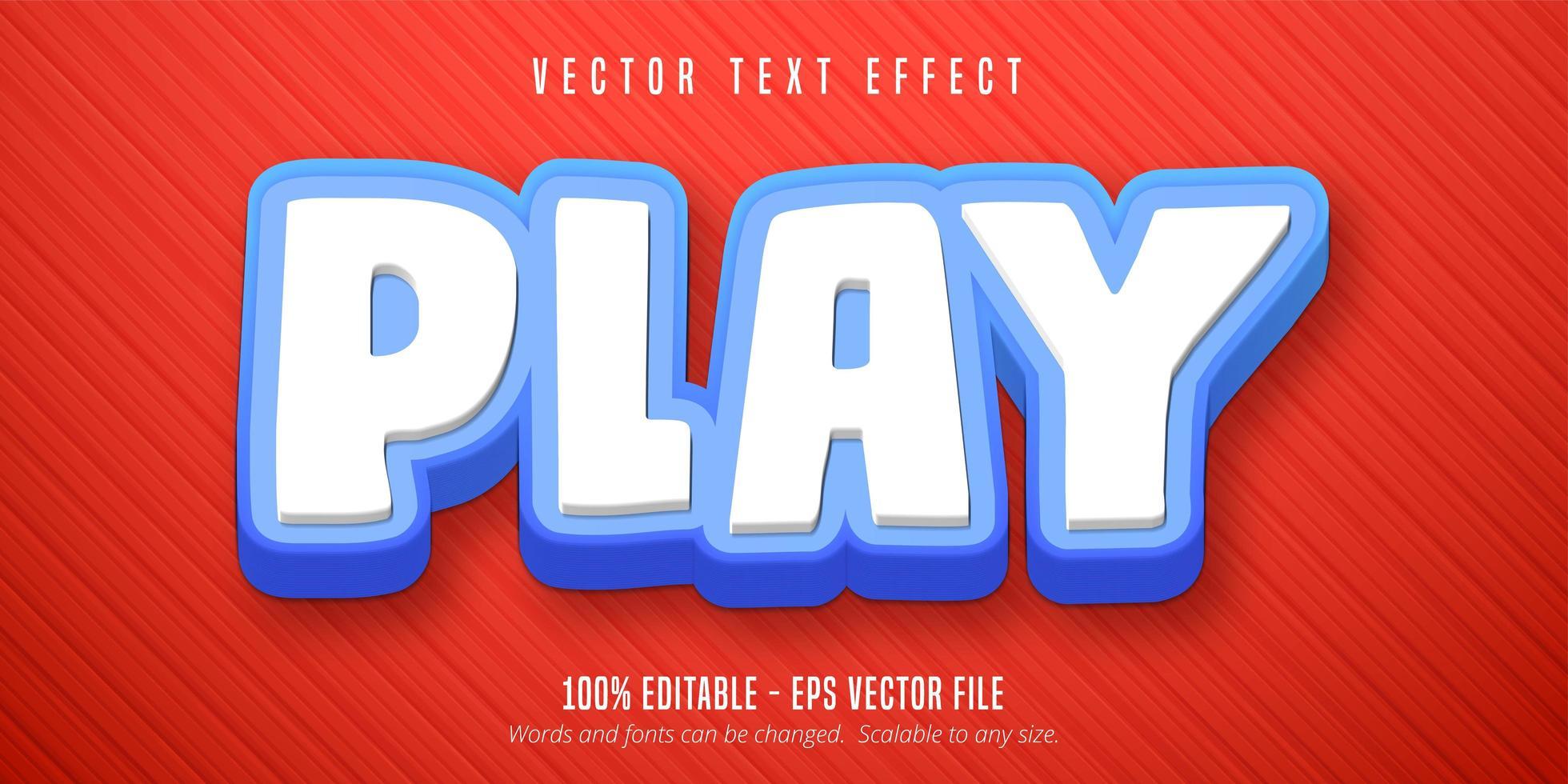 Bearbeiten Sie den bearbeitbaren Texteffekt im Cartoon-Stil vektor