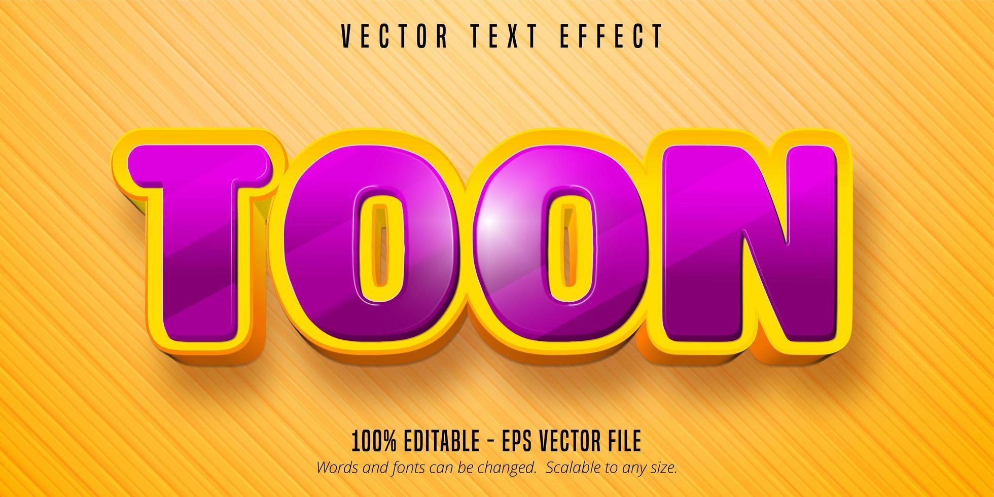 Bearbeitbarer Texteffekt im Toon-Text-Cartoon-Stil vektor