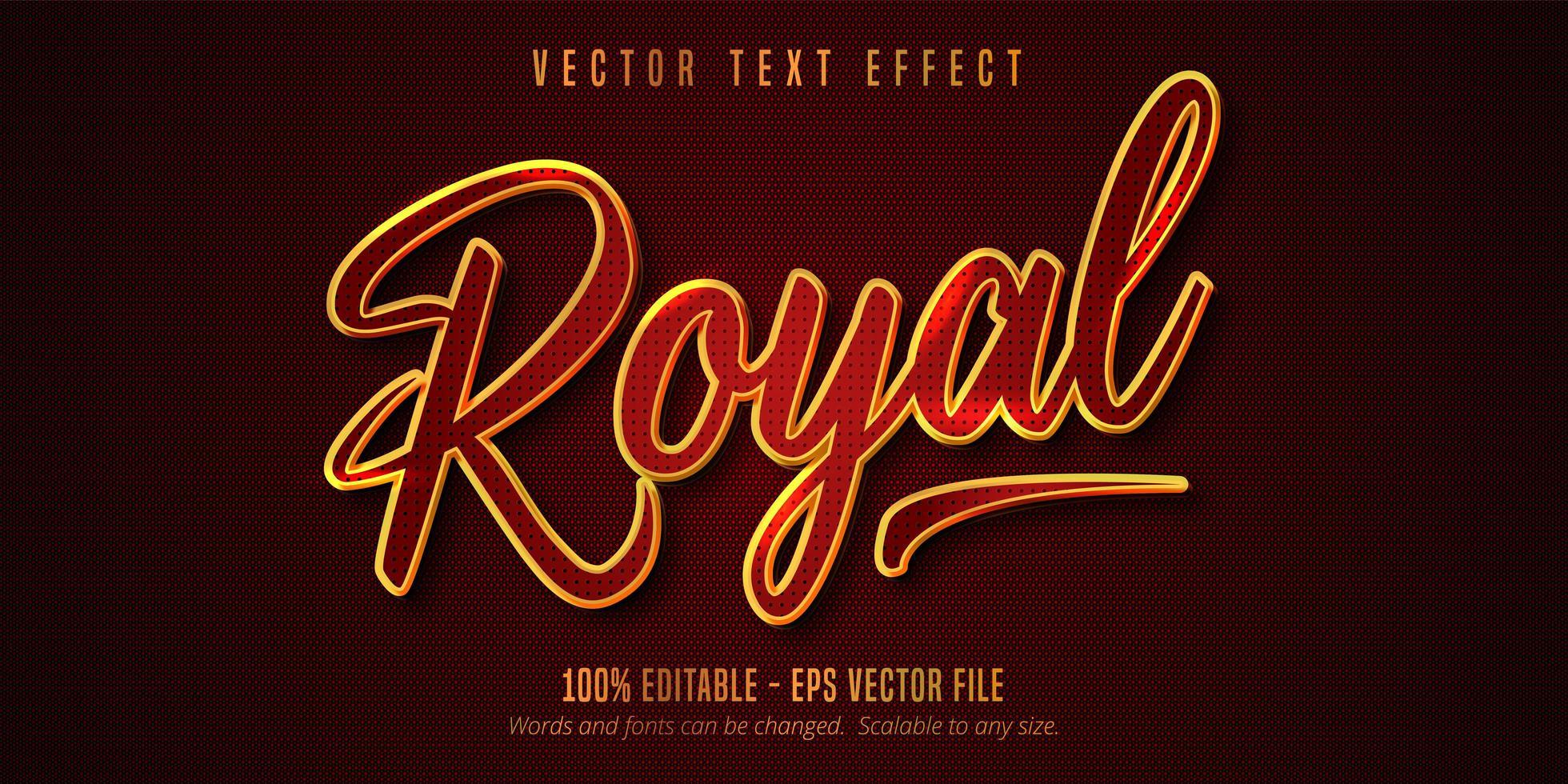 bearbeitbarer Texteffekt im königlichen Stil vektor