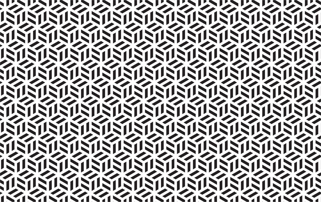 nahtloses geometrisches Schwarzweisswürfelmuster vektor