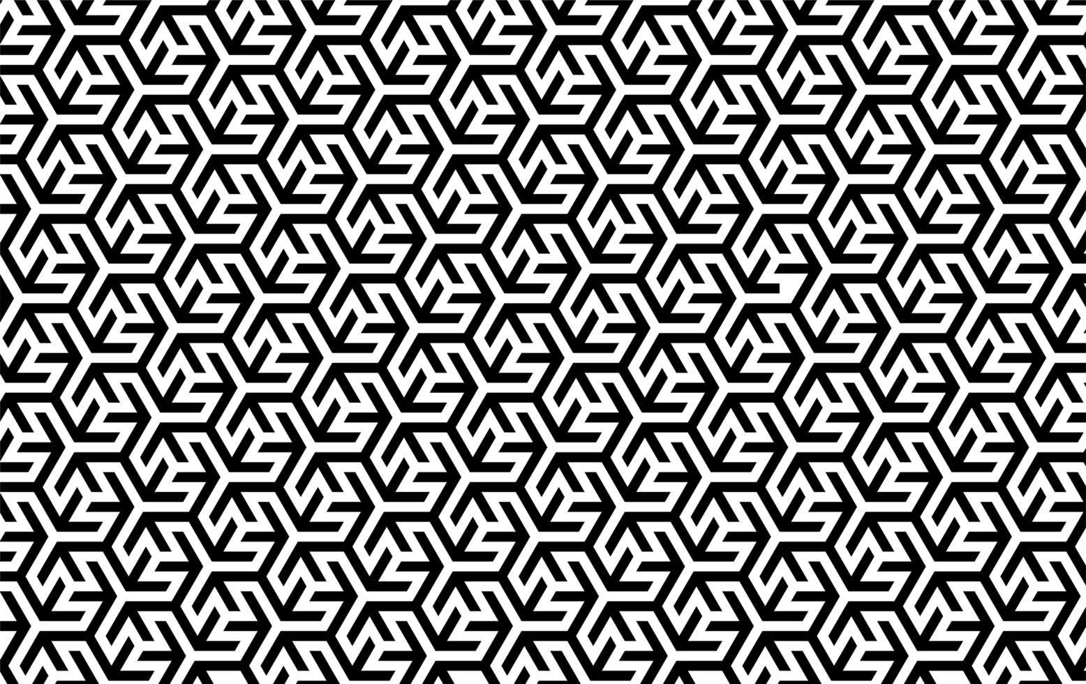 ineinandergreifendes geometrisches Schwarzweiss-Muster vektor