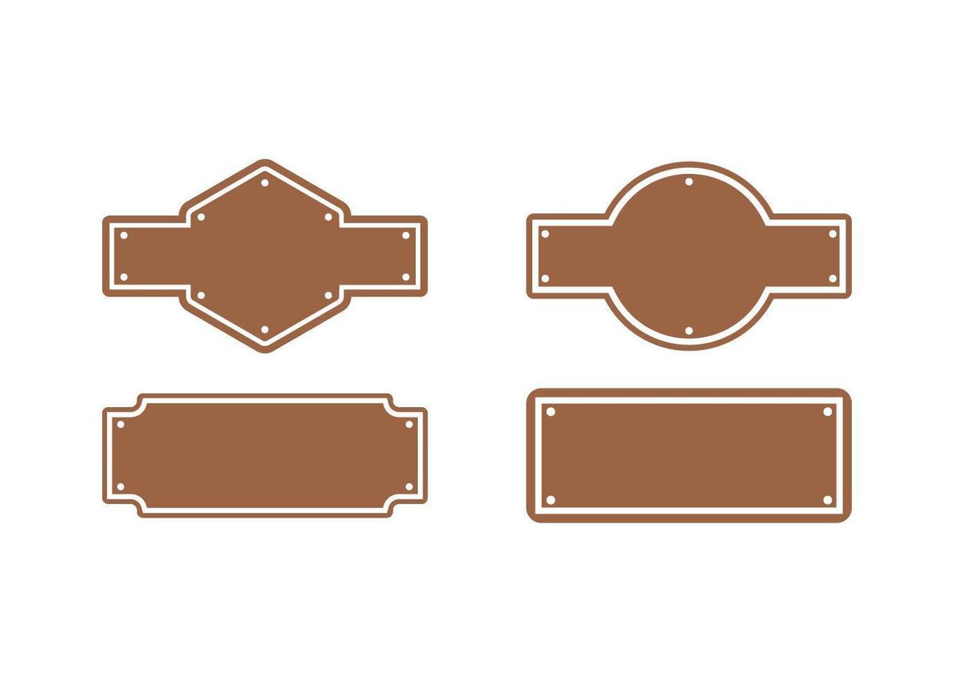 altes Western Board Set vektor