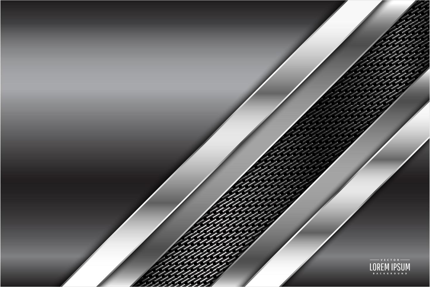 graues Metallic-Design mit Kohlefaser-Textur vektor