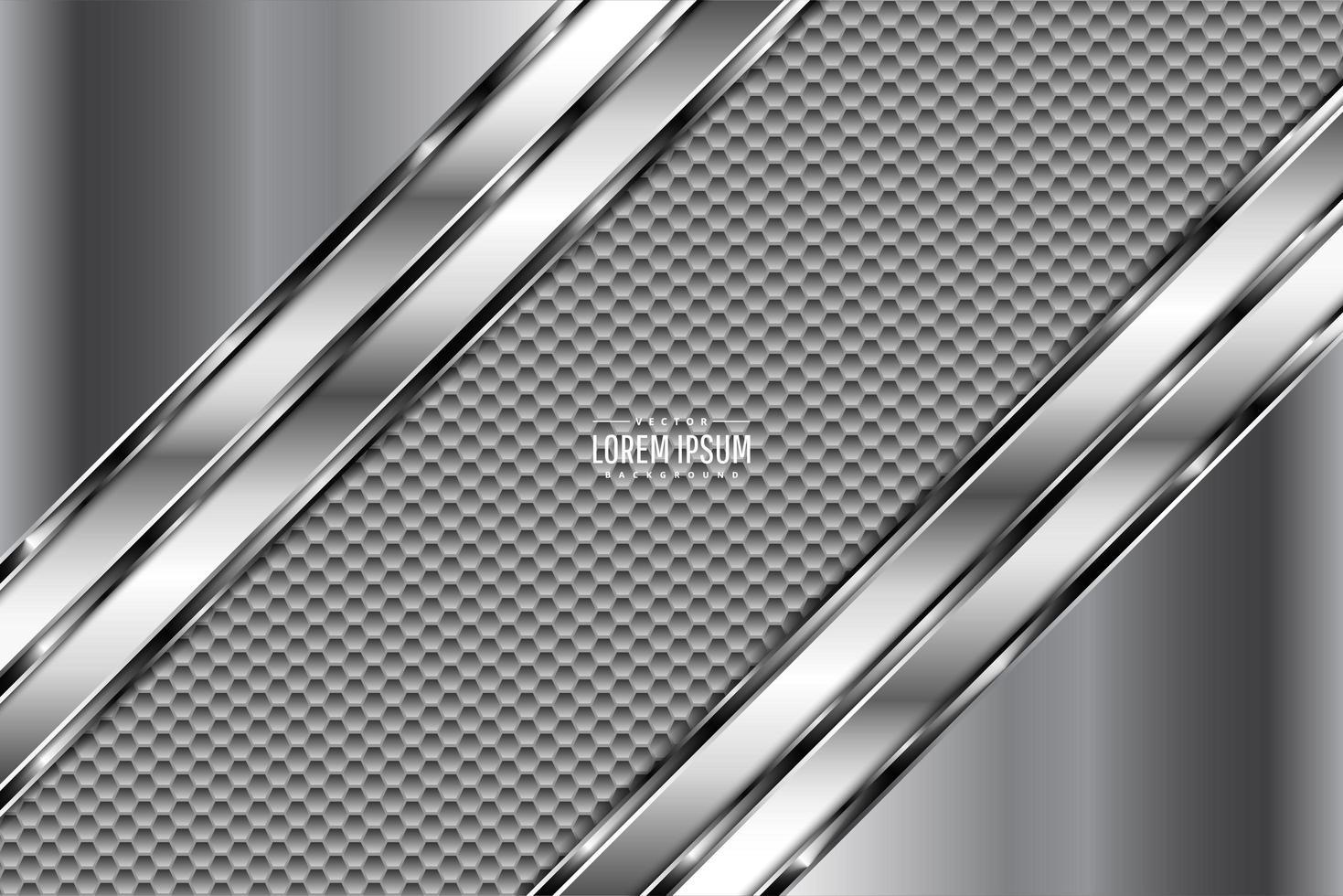 grauer Metallhintergrund mit Kohlefasertextur vektor