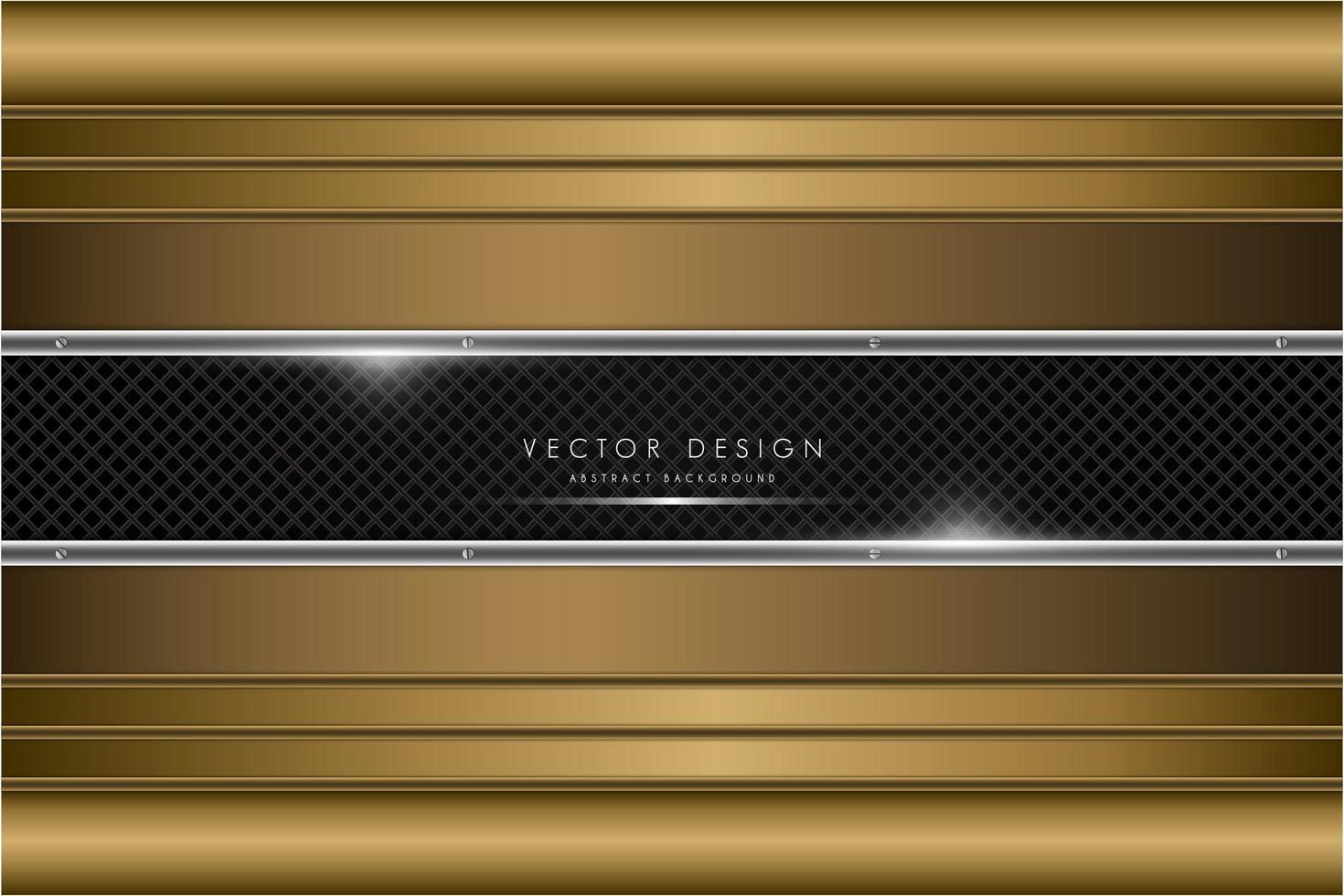 Luxus Gold und Silber Metallic Hintergrund vektor