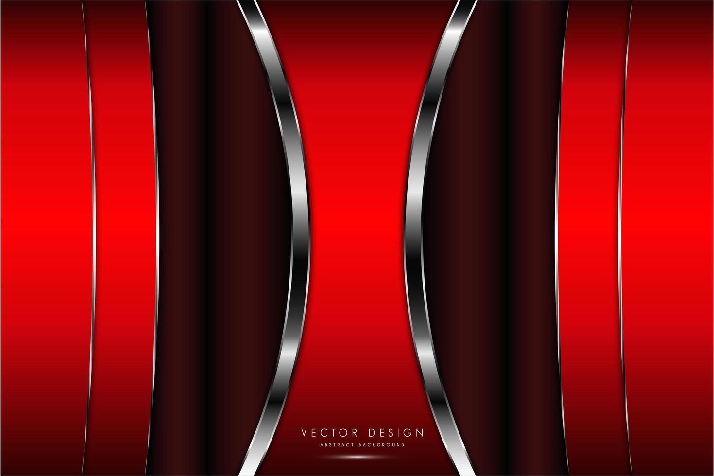 rote und silberne Textur mit leuchtendem Licht vektor