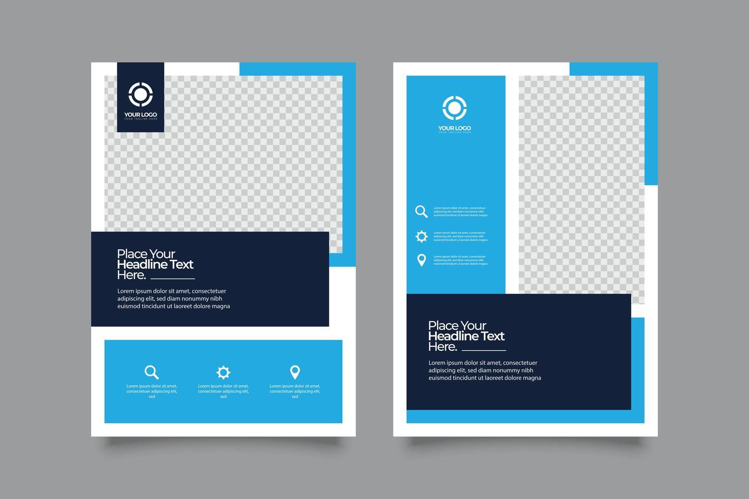 abstrakter Flyer Design Hintergrund vektor