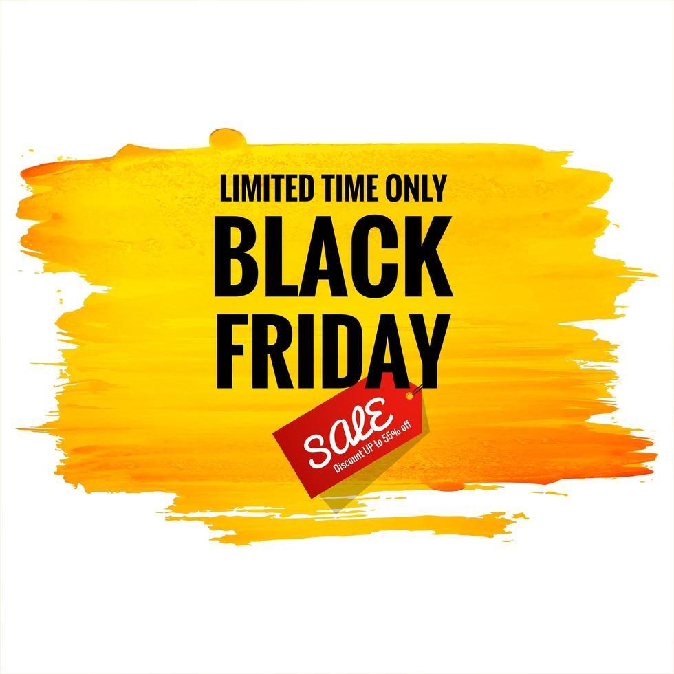 schönes schwarzes Freitagverkaufsplakat mit Pinselstrich vektor