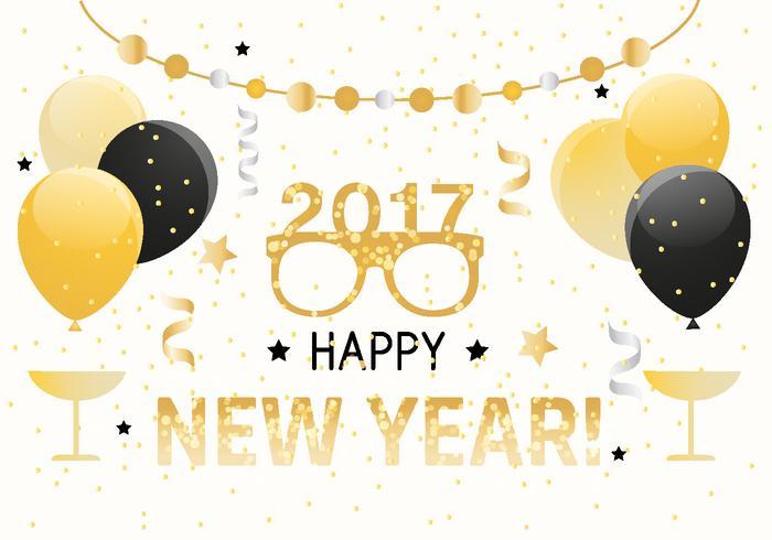 Gott nytt år vektor bakgrund