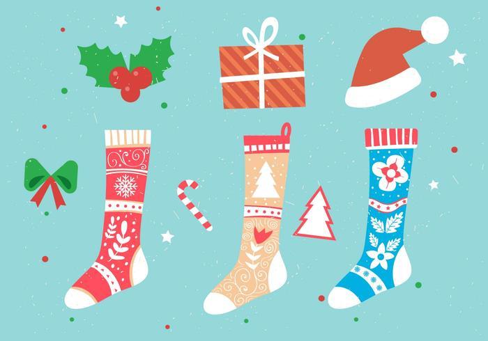 Jul vektor strumpor