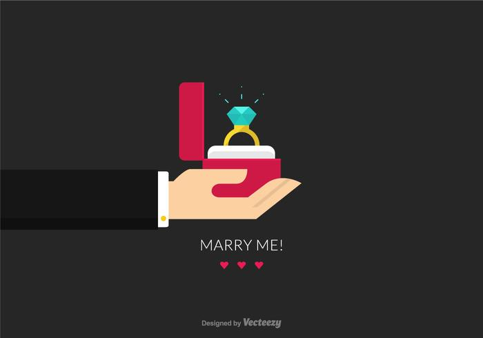Free Proposal Heirat Vektor-Illustration vektor