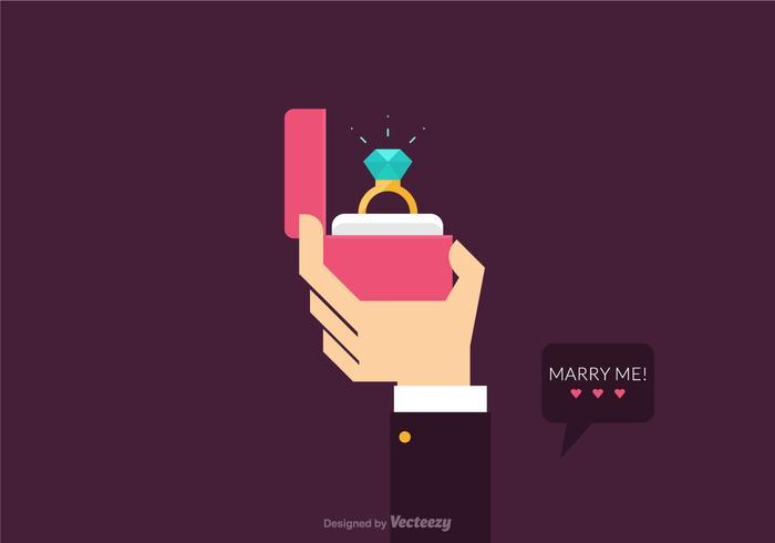 Free Vector Proposal Heirat Illustration