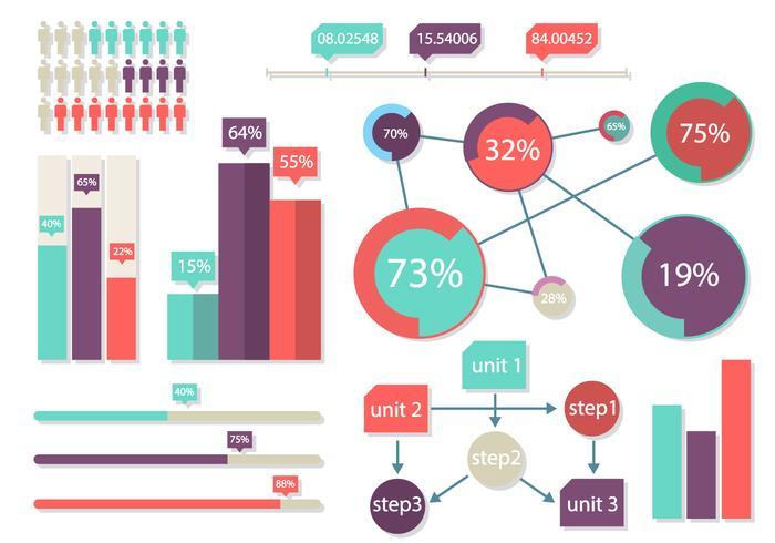 Bright Infographics Elements Vektorillustration vektor