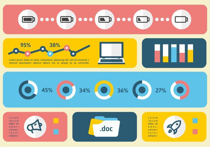 Linear Flat Digital Marketing Vektor-Illustration vektor