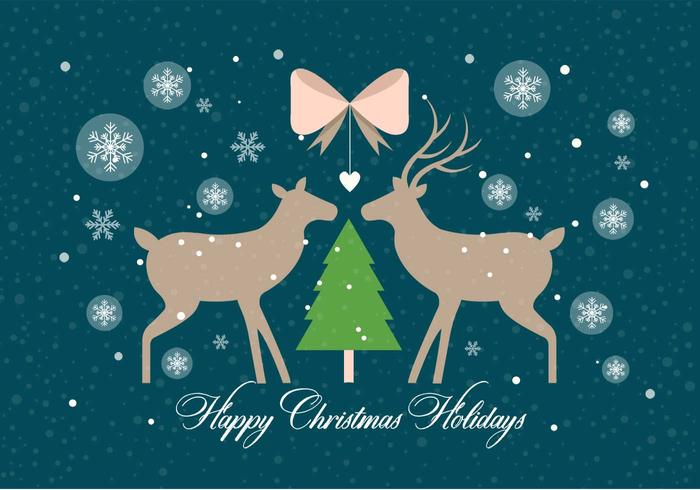 Gratis Christmas Vector Deers