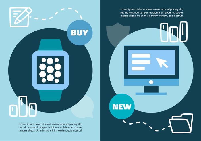 Gratis Digital Marketing Business Vector Illustration