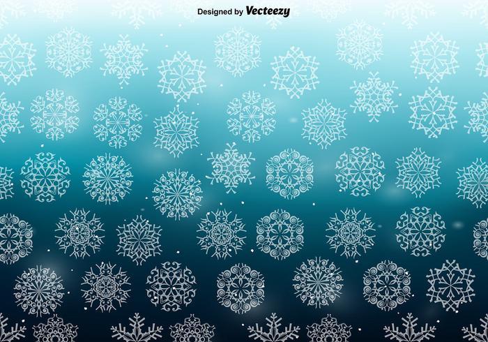 Vit Snowflakes SEAMLESS Mönster vektor