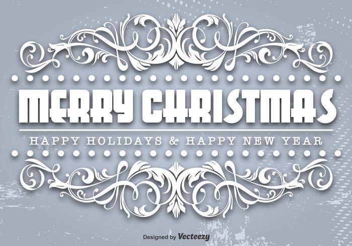 Ornamental Frohe Weihnachten Vorlage vektor