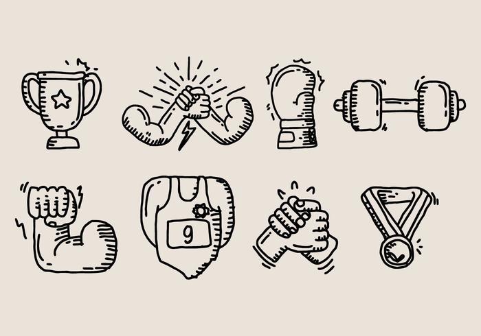 Arm Wrestling-Symbol vektor