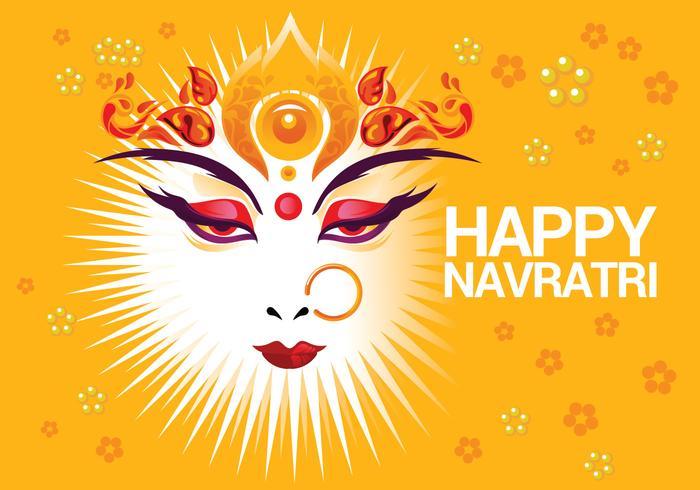 Vacker hälsningskort hinduisk festival Shubh Navratri vektor