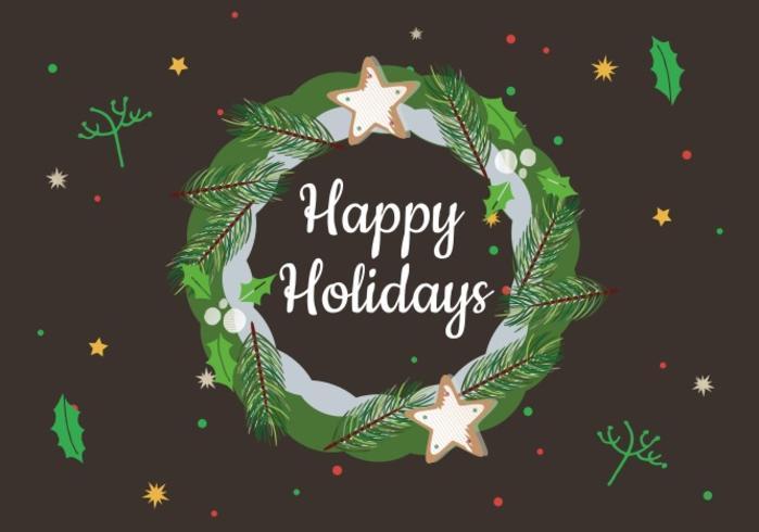 Gratis Happy Holidays Vector Krans