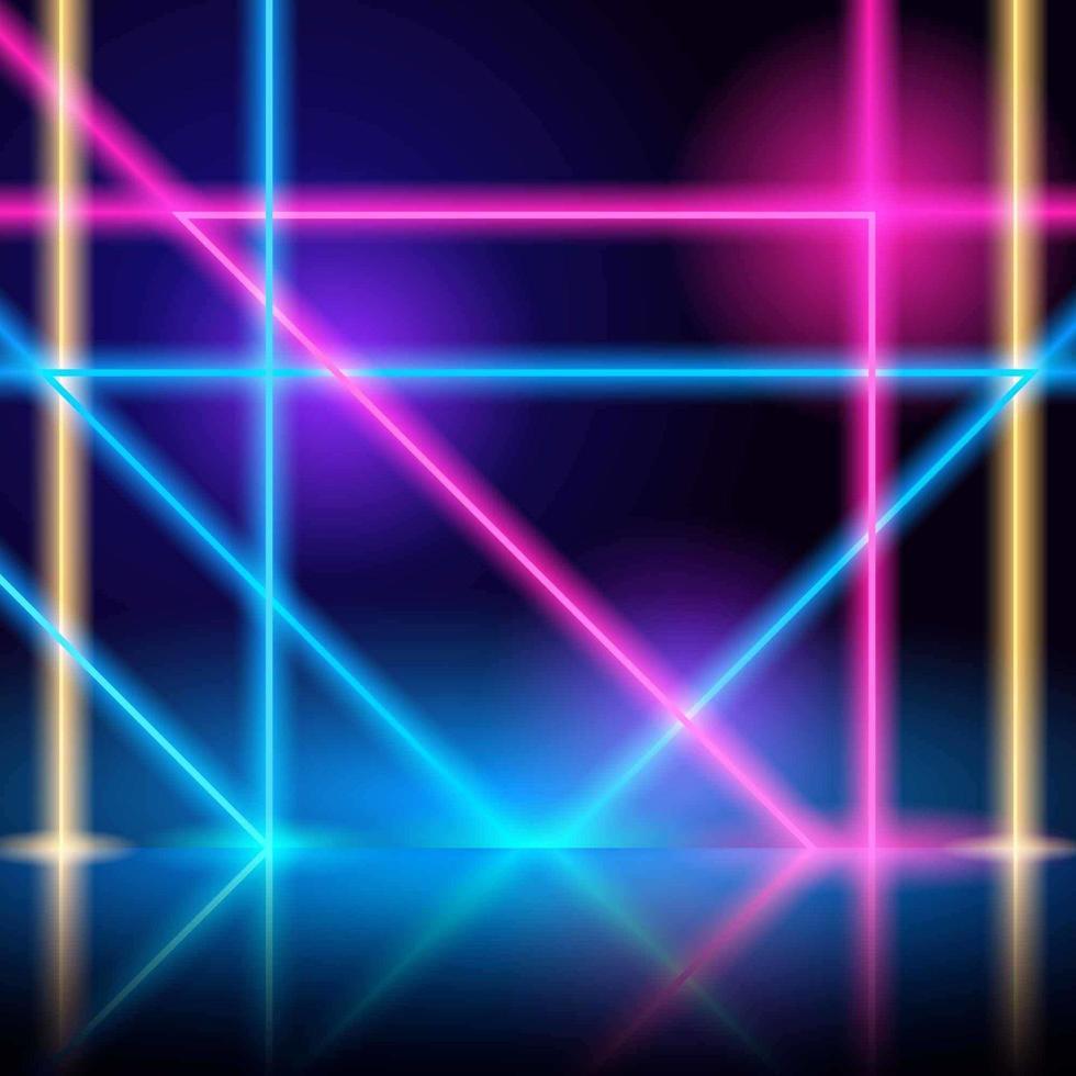 abstrakter Neonröhrenlichthintergrund vektor