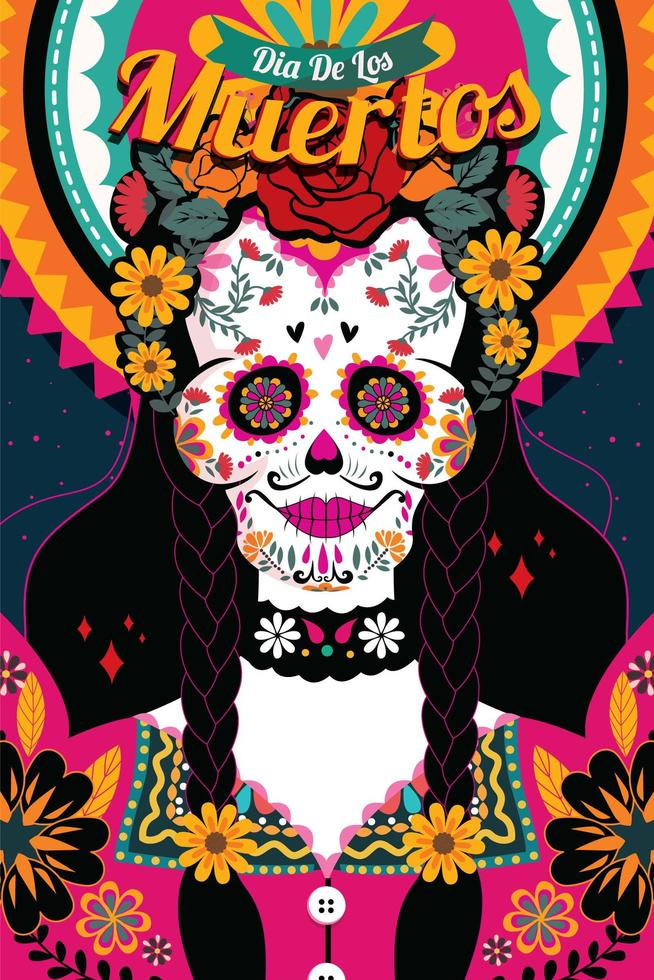 dia de los muertos illustration vektor