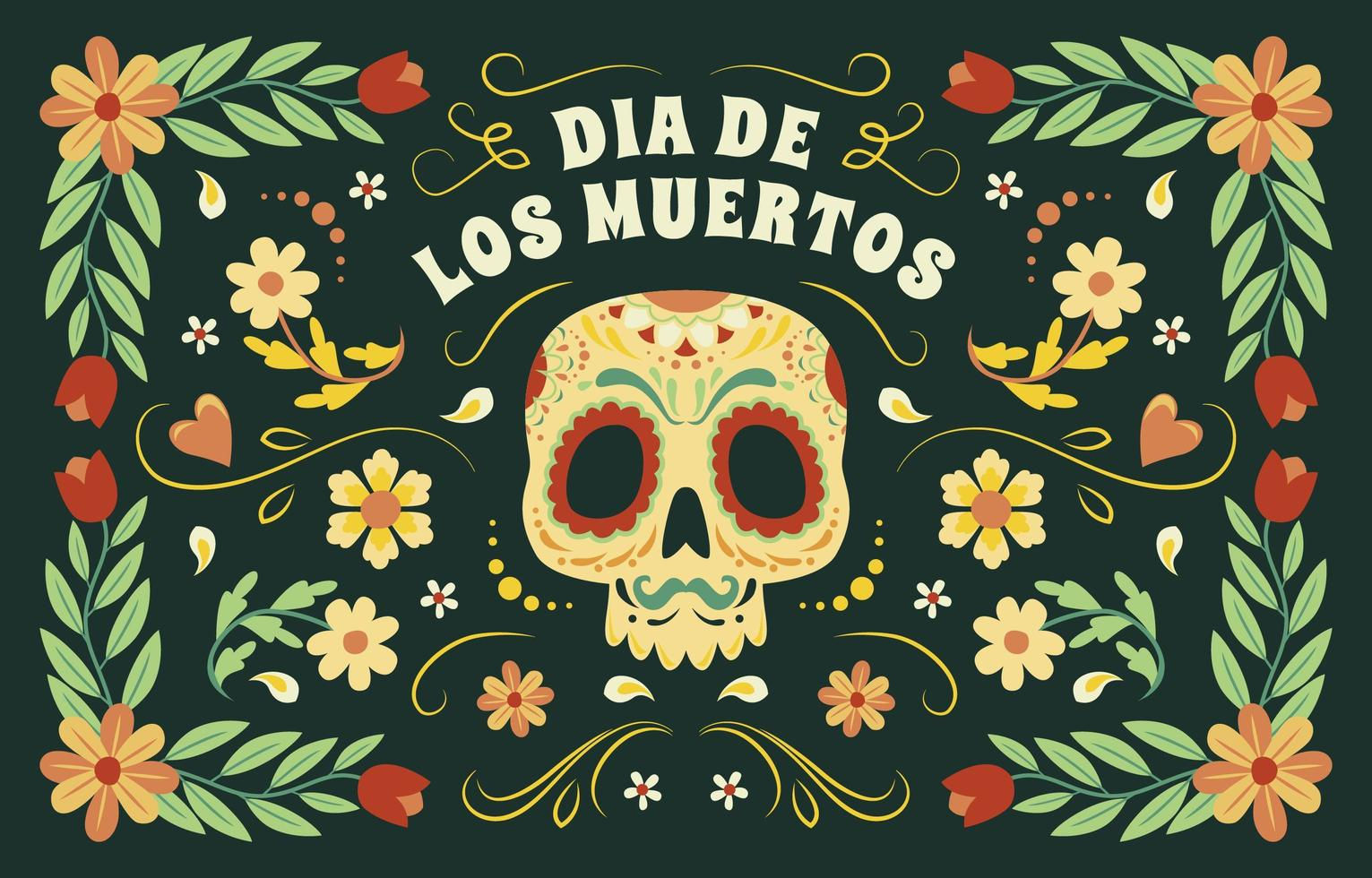 dia de los muertos bunter Hintergrund vektor
