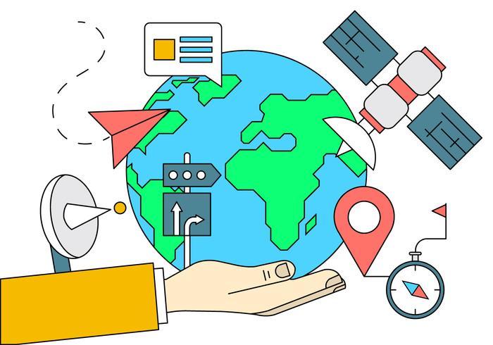 Welt Navigation Icons vektor
