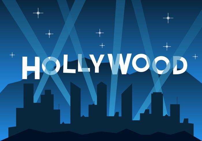 Kostenlose Hollywood Illustration vektor