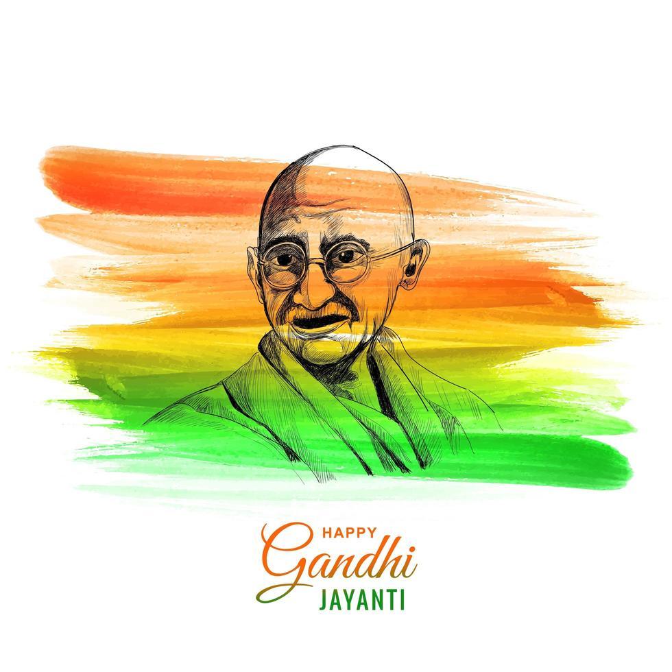 glücklicher Gandhi Jayanti Nationalfeiertag Hintergrund vektor
