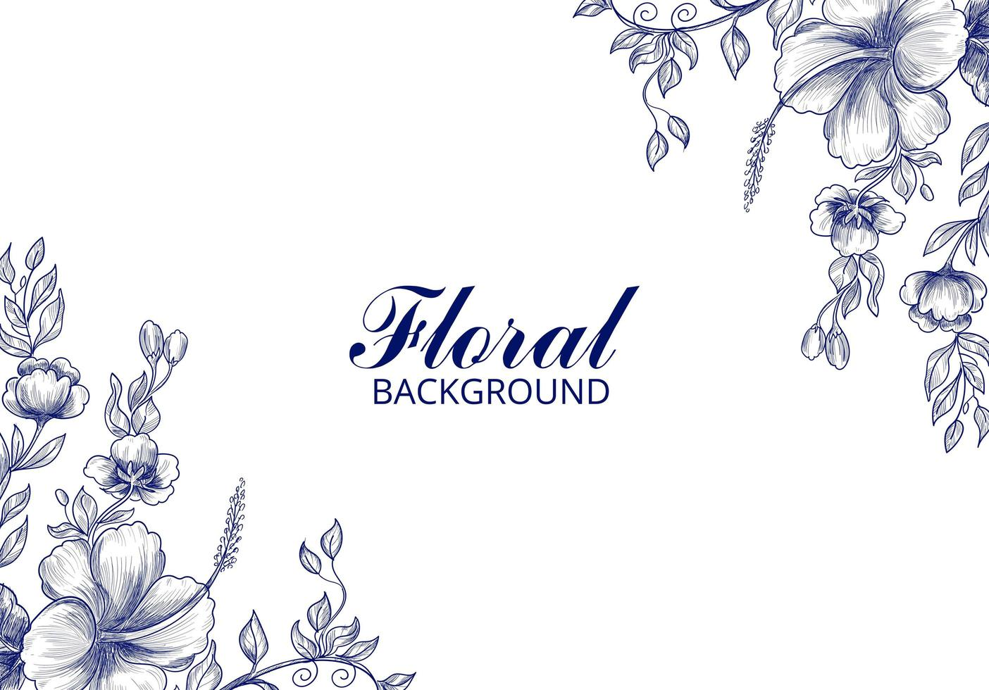 Hochzeit Blumenkarte Hintergrund vektor