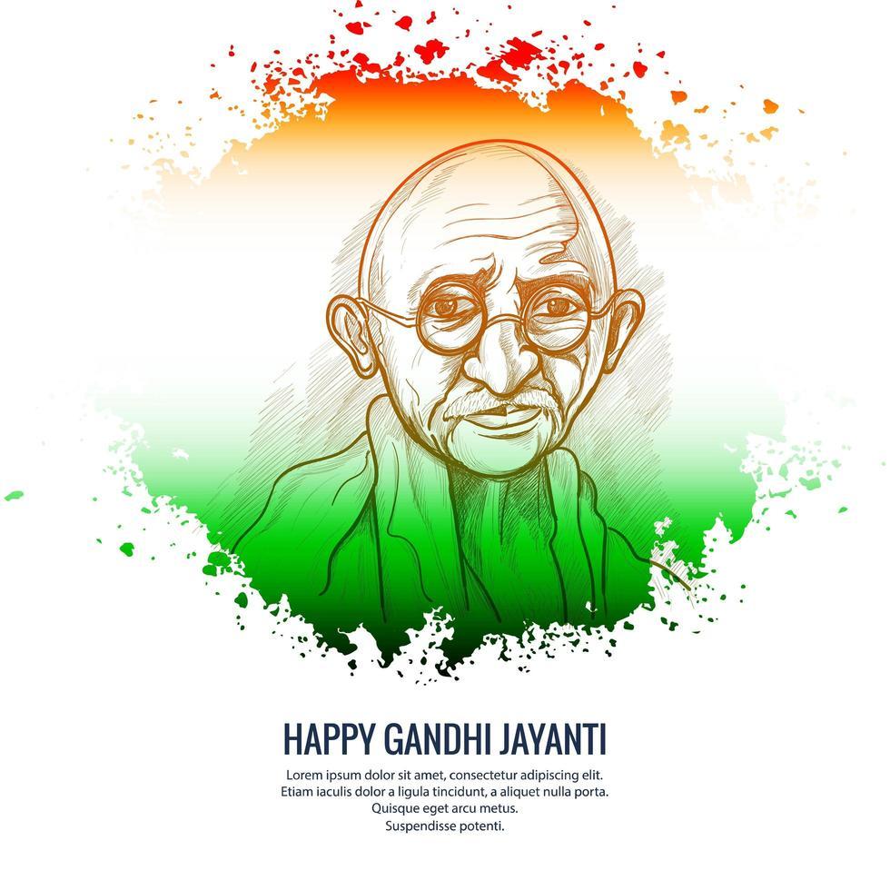 glücklicher Gandhi Jayanti Nationalfeiertagsfeierhintergrund vektor
