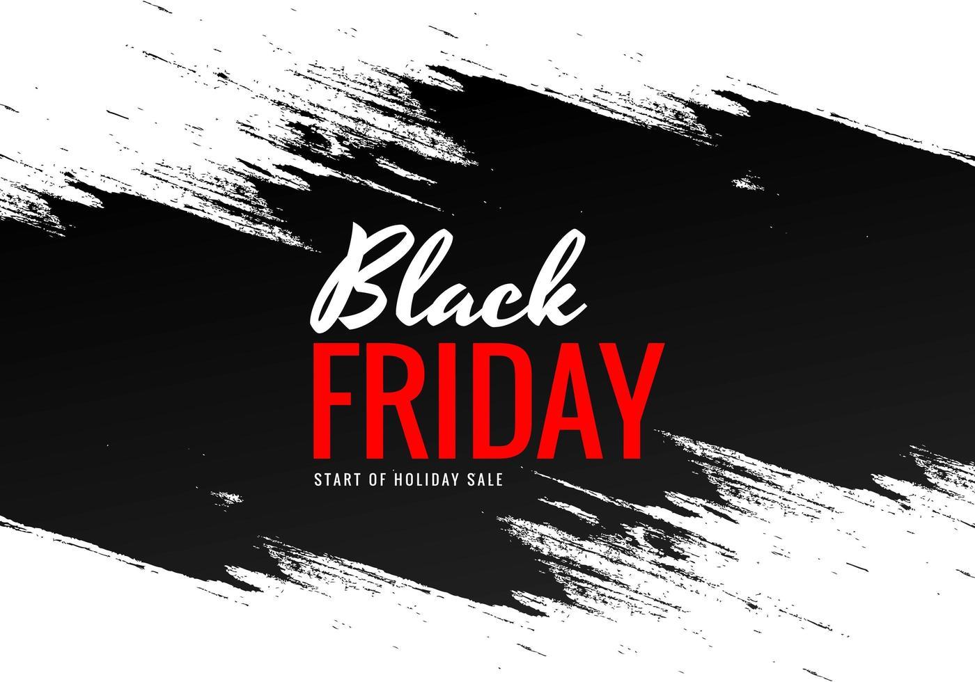 schwarzer Freitag mit Pinsel Banner Design vektor
