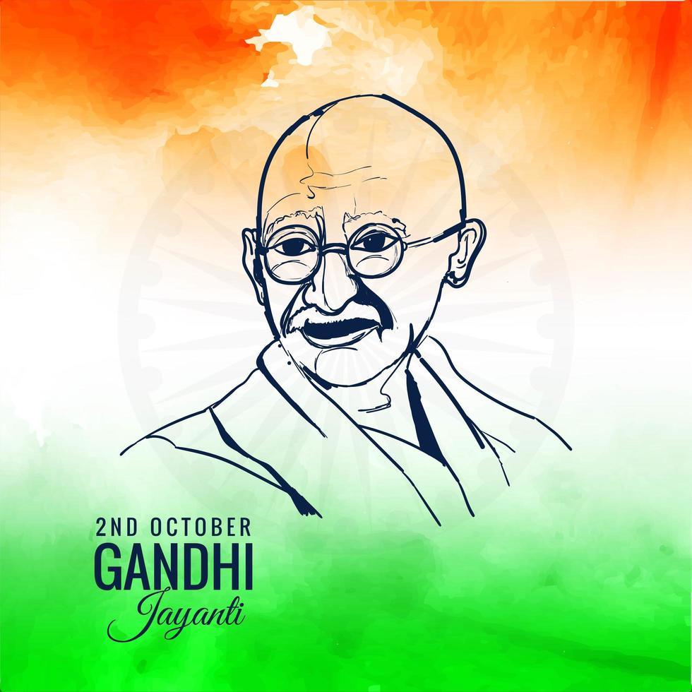 Mahatma Gandhi für Gandhi Jayanti Hintergrund vektor