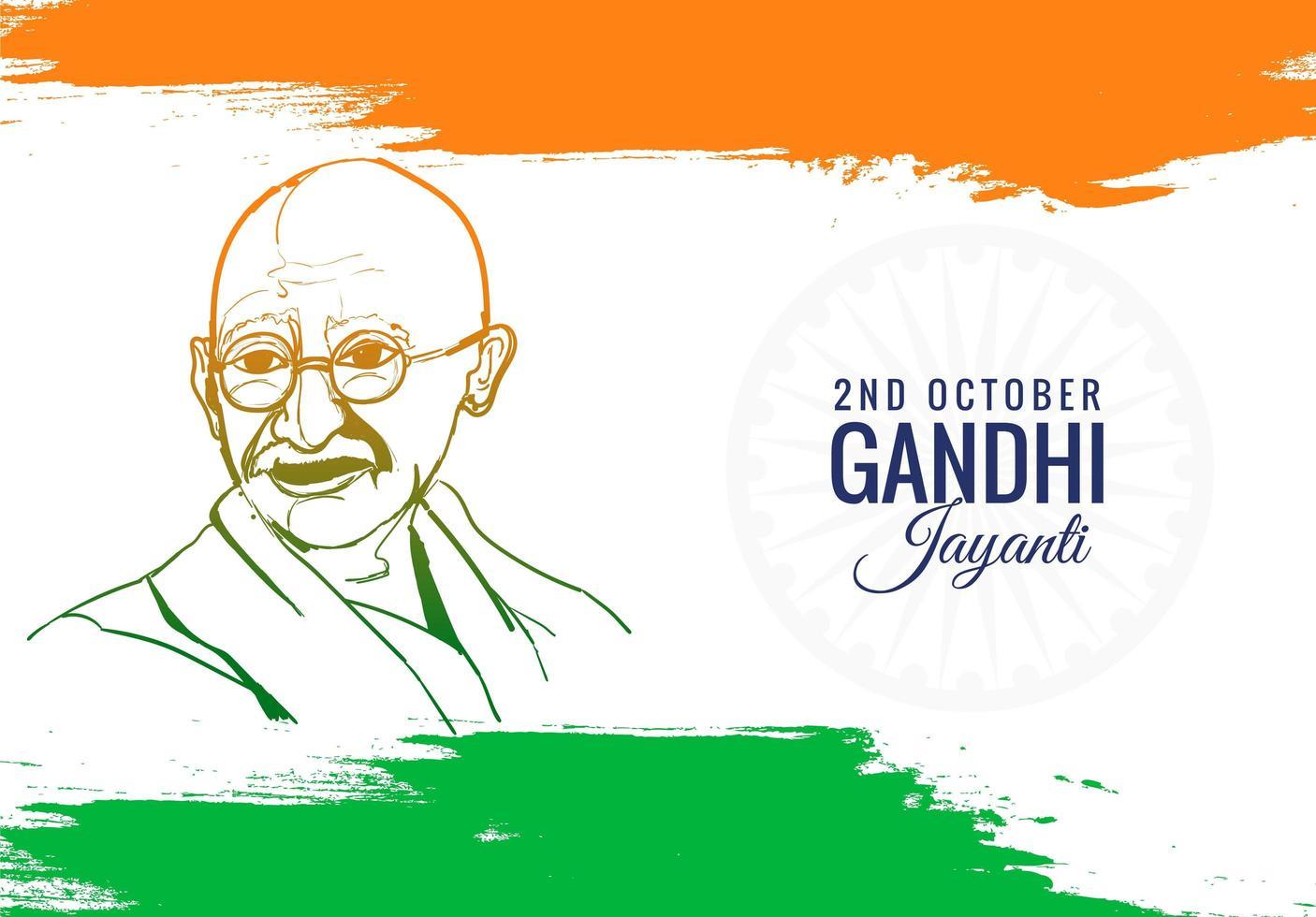 buntes Plakat oder Karte für den Gandhi Jayanti-Feiertagshintergrund vektor