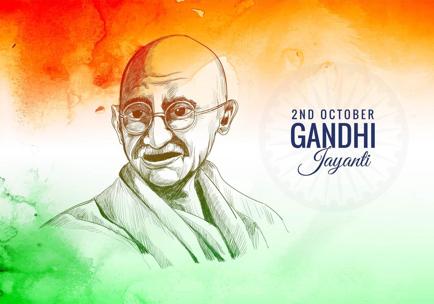 Gandhi Jayanti ist ein nationales Festival gefeierten Hintergrund vektor