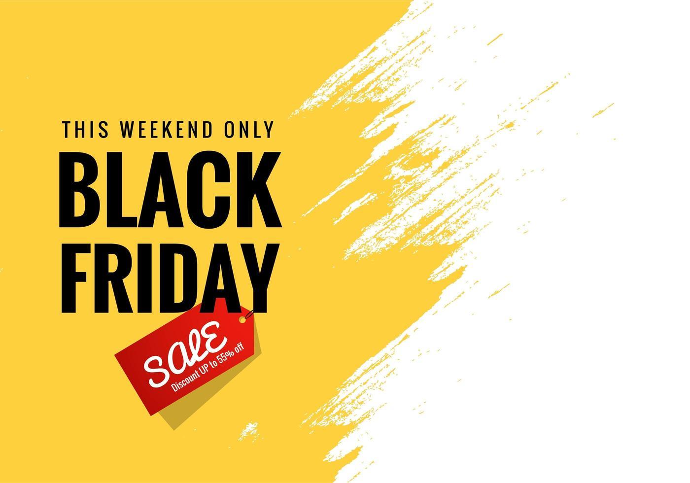 schwarzer Freitag Ankündigung Verkauf Banner Hintergrund vektor