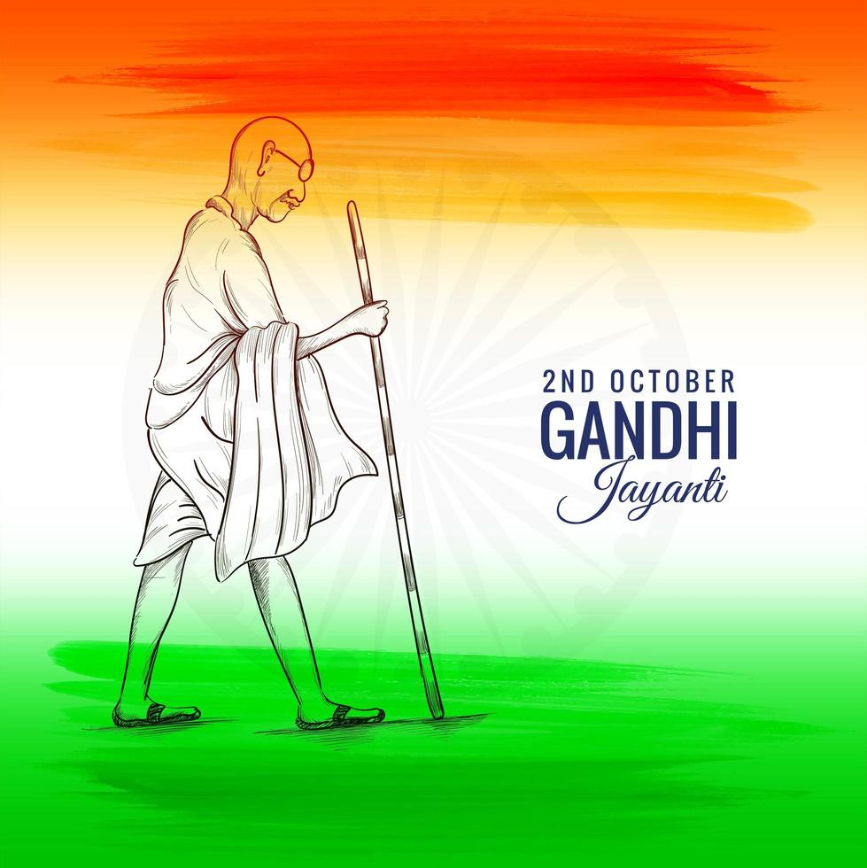 2. Oktober oder Gandhi Jayanti für den nationalen Festivalhintergrund vektor