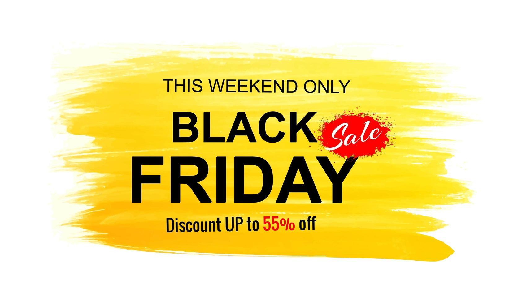 schwarzer Freitag Verkauf Banner Hintergrund vektor