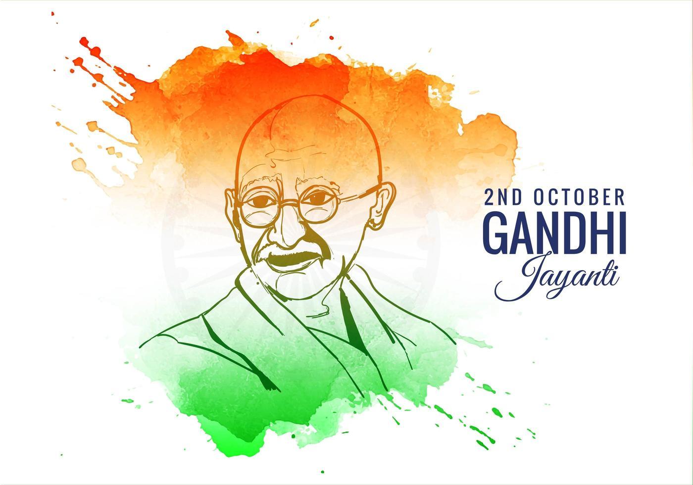 2. Oktober Gandhi Jayanti bunter Spritzhintergrund vektor