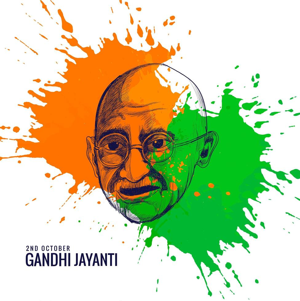 Gandhi Jayanti National Festival in Indien Poster gefeiert vektor