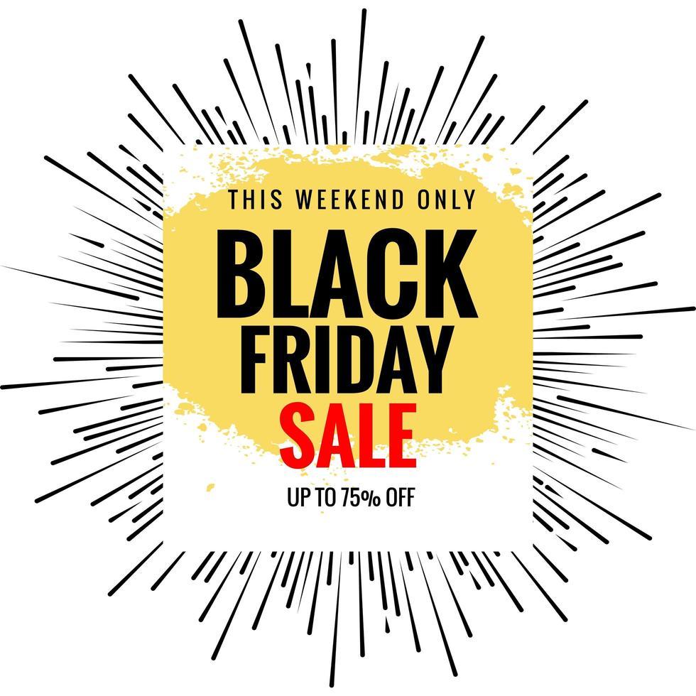schwarzer Freitag Verkauf Strahlen Karte Hintergrund vektor