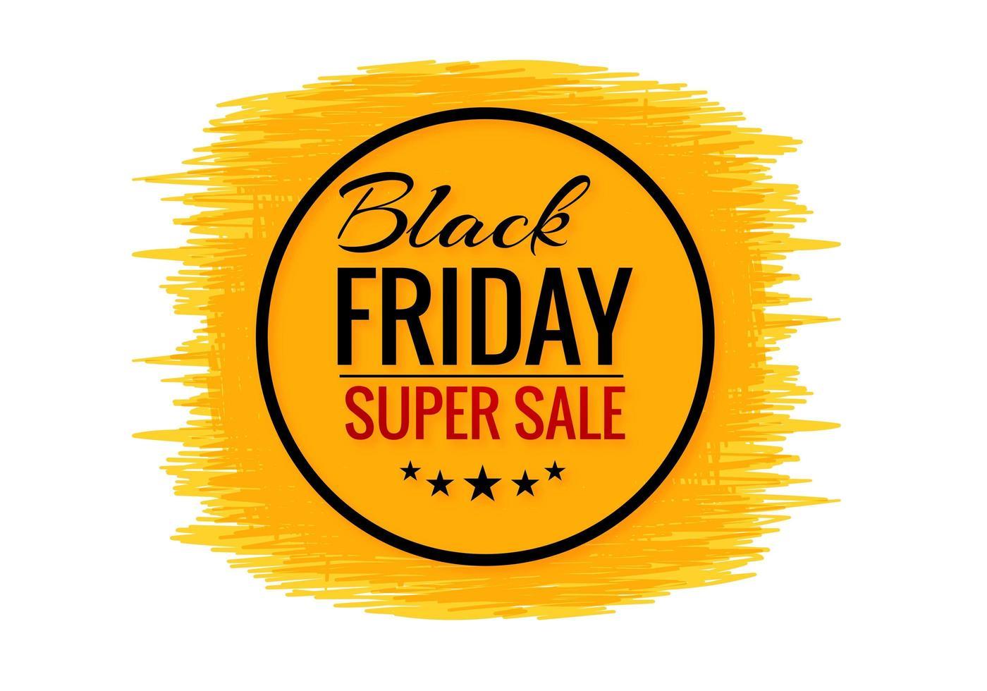schwarzer Freitag-Verkaufsfahne mit Schmutz-Hintergrund vektor