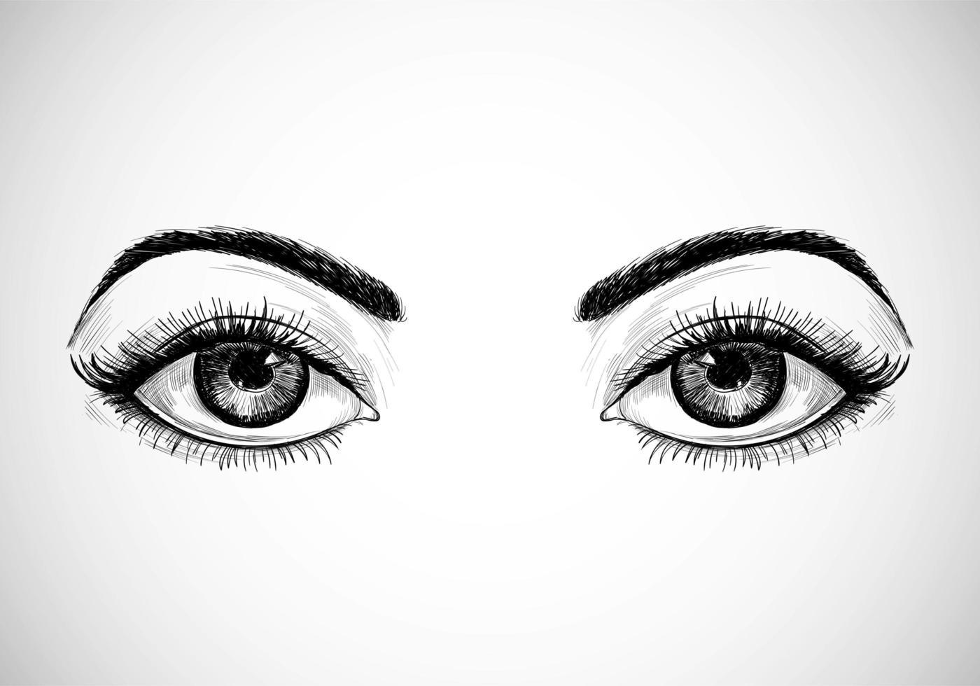 handgezeichnete skizzierte Augen vektor